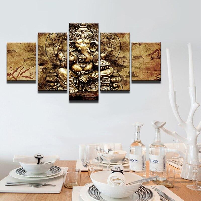 Moderne HD Gedruckt Leinwand Poster Wohnkultur 5 Stücke Indien ...