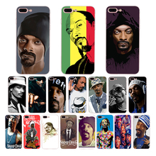 IMIDO Soft silicone phone case for iphone 6 6s 7 8 plus X XS XR XSmax 5 5s SE fashion American rapper Snoop Dogg TPU cover shell