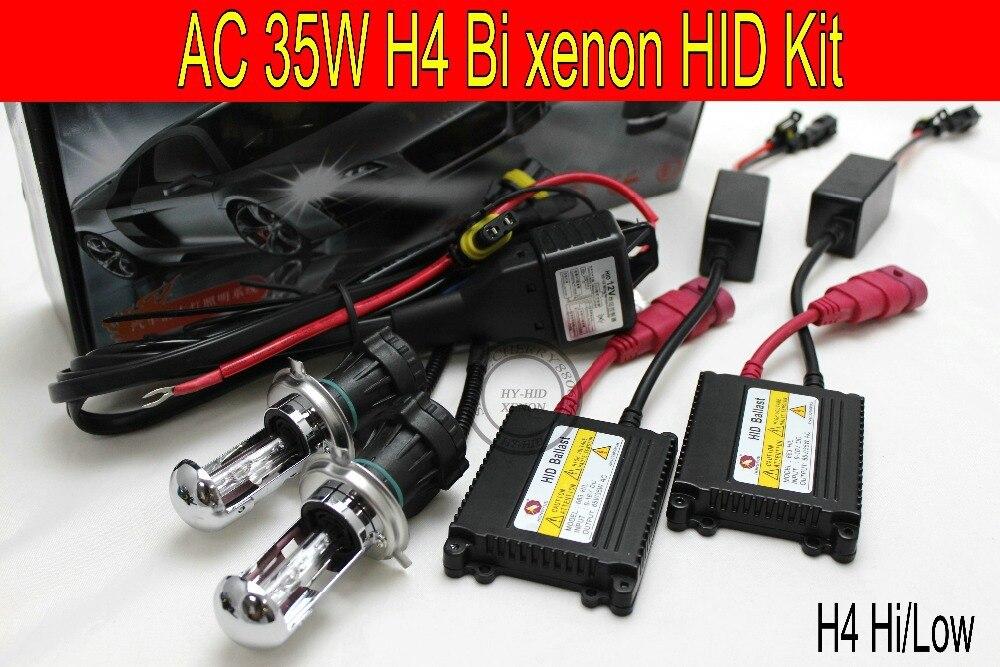 Livraison gratuite 1 set 12 V 35 w AC xenon HID kit H4 Bi xenon haute basse kit 6000 K 8000 K 3000 K 4300 K 10000 K K voiture phare