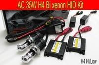 Free Shipping 1set 12V 35w AC Xenon HID Kit H4 Bi Xenon High Low Kit 6000K