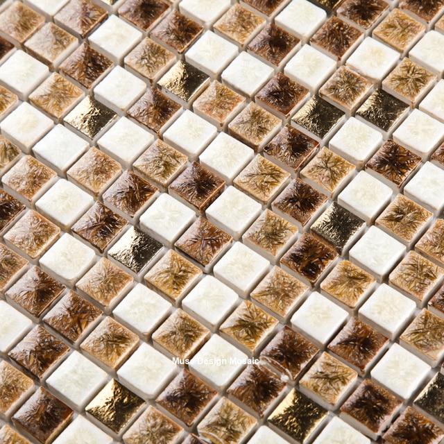 Retro 15mm Braun Weiß Fambe Keramik Mosaik Fliesen Für Küche Backsplash  Badezimmer DIY Showroom Zähler