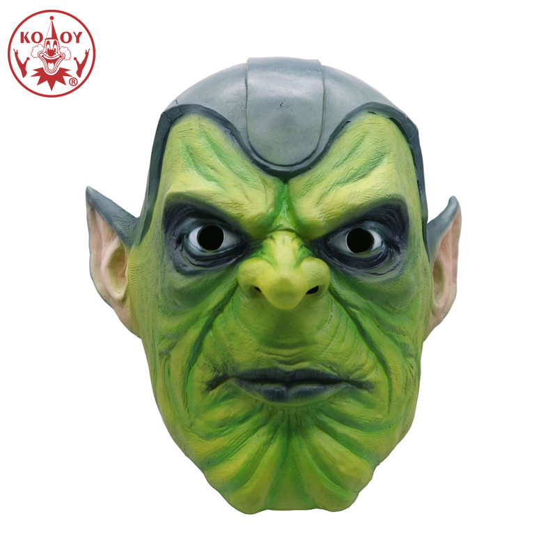 Captain Marvel cosplay mask Halloween costume women female Silica Gel Superhero Skrull masks helmets for women men Party