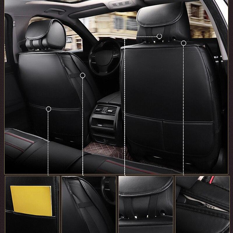 Kalaisike кожаные универсальные чехлы для сидений автомобиля для Honda все модели URV CRV CIVIC fit accord city XRV HRV jazz vezel Insight Spirior - 5