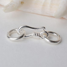 Sterling Silver S Hook & Eye Fish Clasp with Closed Jump Ring, for Necklace / Bracelet Jewelry diy Components(China)