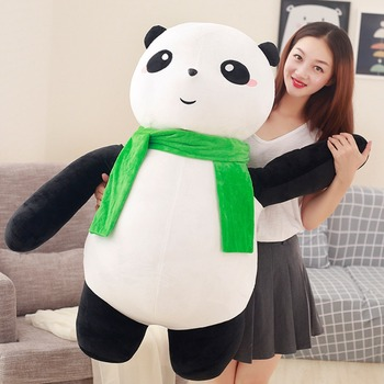 fillings toy huge 100cm gaint panda plush toy soft doll hugging pillow birthday gift h2577