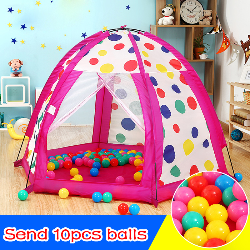 Portable Toy Children Tents For Kid Safe Polka Dot Baby Playpen Outdoor Indoor Ball Pool Kids Game House Princess Baby Play Yard