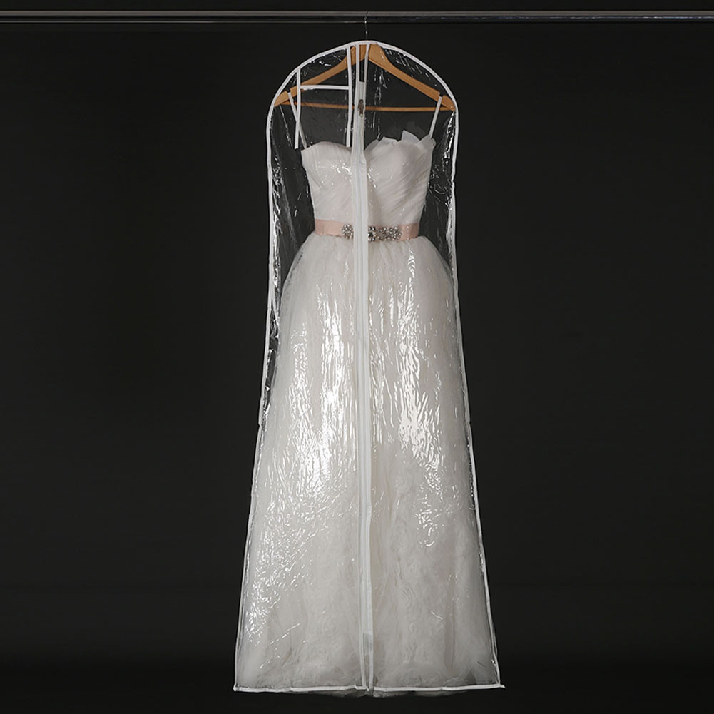 Wedding Gown Garment Bag: 1x Clear Wedding Dress Cover Storage Bags Dustproof Large