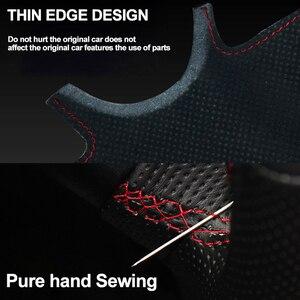 Image 4 - HuiER Hand Sew Car Steering Wheel Cover Breathable Red Marker For Mazda CX 5 CX5 Atenza 2014 New Mazda 3 CX 3 2016 Scion iA 2016