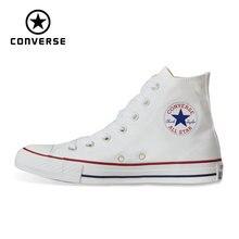 Новый Converse Оригинальные кроссовки все стильная обувь Chuck Taylor мужчин и женщин унисекс высокой классический обувь для скейтборда, кроссовки 101009