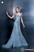 Vestidos 2015 Neue Mode Luxus weg von der schulter abendkleider Voll Perlen Lange Kleider Abendkleider