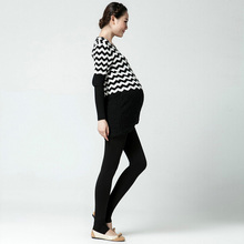 Winter Leggings Thickened with Velvet and Trousers for Pregnant Women