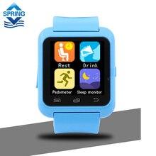 Digital-uhr Drahtlose Bluetooth Smart Uhr U8 U Sport Pedometer Erinnerung Freisprecheinrichtung Smartwatch U80 Handgelenk Band für Android-Handy