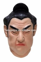 Realistic Cosplay Costume Fancy Dress Deluxe Latex Japanese Sumo Wrestling Kabuki Mask