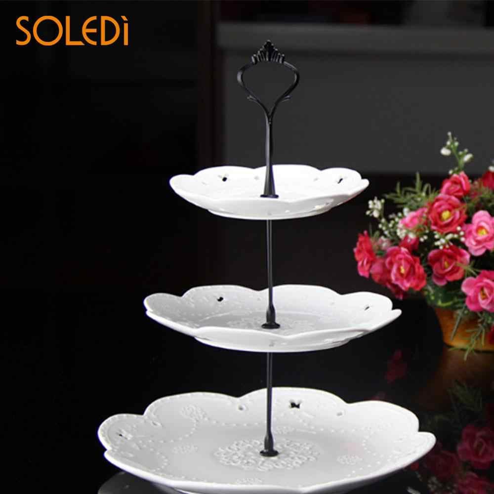 2/3 Tier sprzętu korona metalowa stojak piętrowy na ciasto montażu ślub imprezowa zastawa stołowa pieczenia ciasto stojak na cukiernia