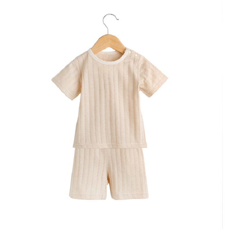 2019 Summer Mesh Children's Clothing Cotton Suit Breathable Baby Boy Clothes Suit Short-sleeved T-shirt+pants Boys Girl Outfits
