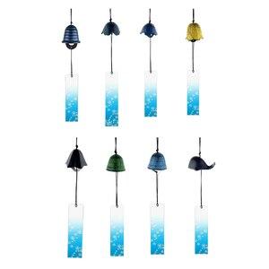 Image 4 - 8 peças japonês furin vento chime nambu ferro fundido iwachu sinos