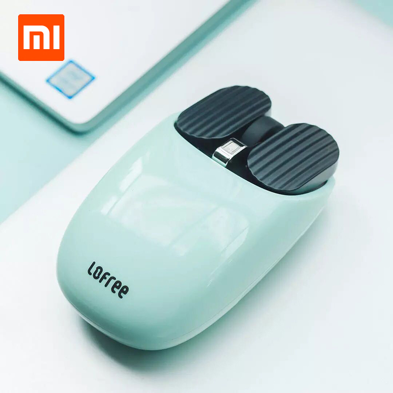 Xiaomi Mijia LOFREE Bluetooth Wireless Mouse 2.4G/Bluetooth Dual Mode Connection Unique Gesture Function Multi-system Compatible