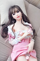 165cm real Silicone Sex Dolls For Men, Sexual Doll with Oral Anal vagina small breast adult sex love doll for man