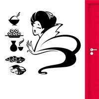 Sushi Sticker Japan Food Decal Poster Vinyl Art Wall Decals Pegatina Quadro Parede Decor Mural Sushi Sticker