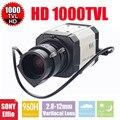 Vanxse cctv 1/3 sony effio-e 960 h/1000tvl 2.8-12mm auto iris osd menu mini caixa de câmera de segurança câmera de vigilância