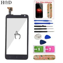 "4.5"" For Lenovo A526 526 Touch Screen Panel Digitizer Front Glass Lens Sensor Touchscreen Tools Adhesive + Screen Protector Gift"