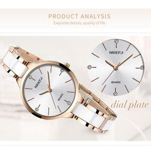 Image 3 - NIBOSI Vrouwen Horloges Armband Horloge Dames Polshorloge Vrouwen Waterdichte Fashion Casual Crystal Dial Rose Gold Relojes Para Mujer
