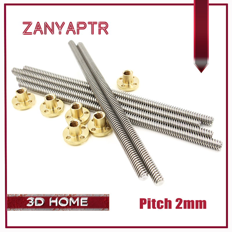 3D Printer &CNC THSL-500-8D Length 100/200/300/400/500/600mm T-type Stepper Motor Trapezoidal Lead Screw 8MM Thread 8mm T8 кухонная техника yoli 300 500 t 101
