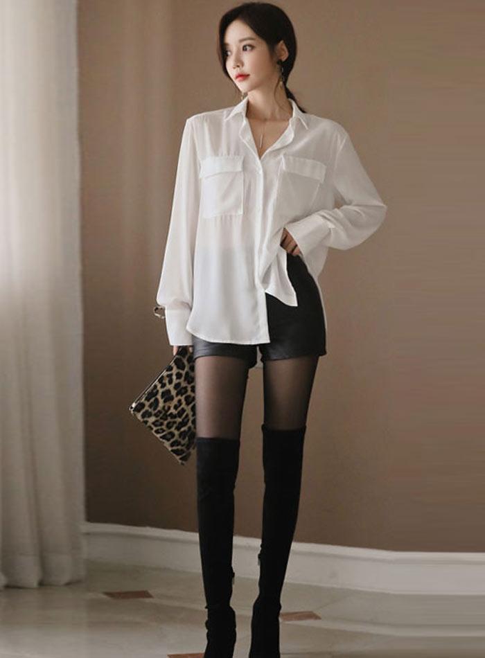 High Waist PU Leather Shorts Korean Fashion Black Spring Autumn Women Shorts Cool Skinny Work Party Wear Female Shorts 29