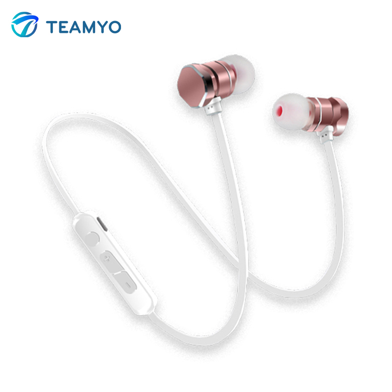 Teamyo Bluetooth Earphone wireless headphones Bass Neckband Sport gaming Headset Running headphone For iphone xiaomi samsung original remax neckband sport earphone s8 wireless bluetooth headset bluetooth 4 0 magnet earphone for iphone x 8 samsung xiaomi