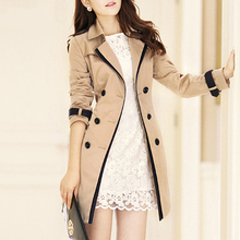 Trench Coat For Women 2019 Autumn Casual Double Breasted Fem