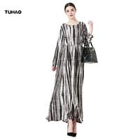 TUHAO Loose 5XL 6XL Muslim Dress Maxi Long Women S Dresses Vintage Plus Sizes A Line