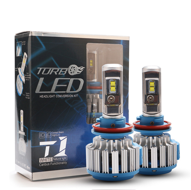 HAOSJ T1 turbo Led Car Headlight Plug&Play canbus lamp for most cars H4 H11 H7 H1 H3 9004 9005 880