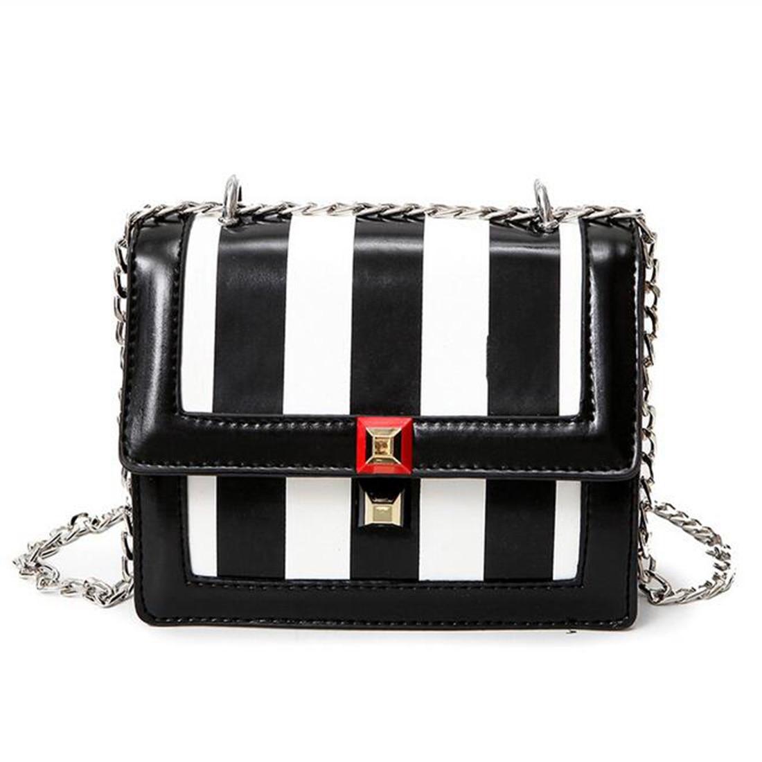 brand designer bags women black white leather handbags Chain Solid Shoulder Bag mini bags Woman Messenger Bag purses and handbag мебельтрия стул гамма т1