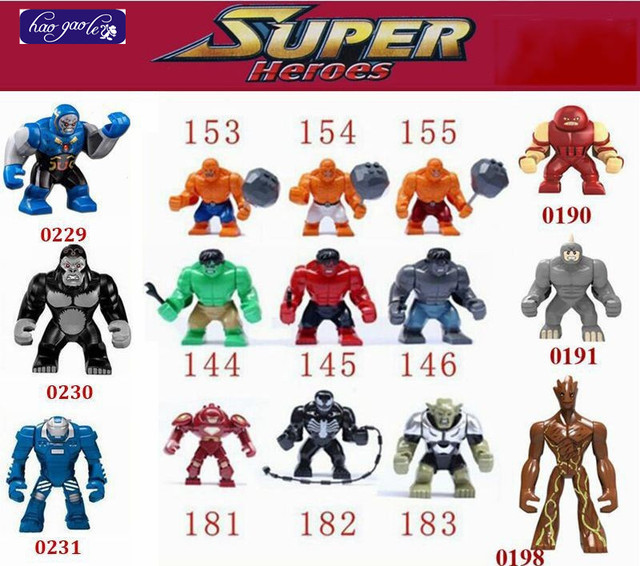 haogaole 300pcs big juggernaut venom lazy vs hulk buster green