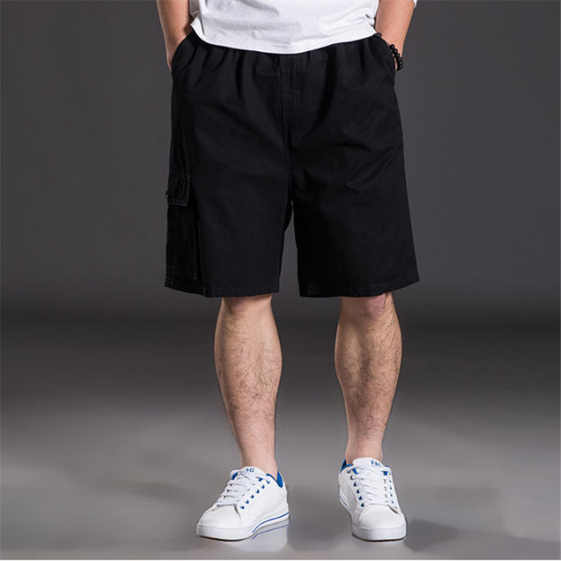 New Summer Men Cotton Shorts Plus Size XL-6XL Shorts Male  Multi Pockets Loose Leisure Daily Home Shorts High Quality A594