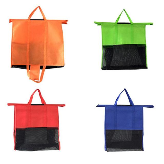 4pcs Set Thicken Cart Trolley Supermarket Ping Storage Bags Foldable Reusable Eco Friendly
