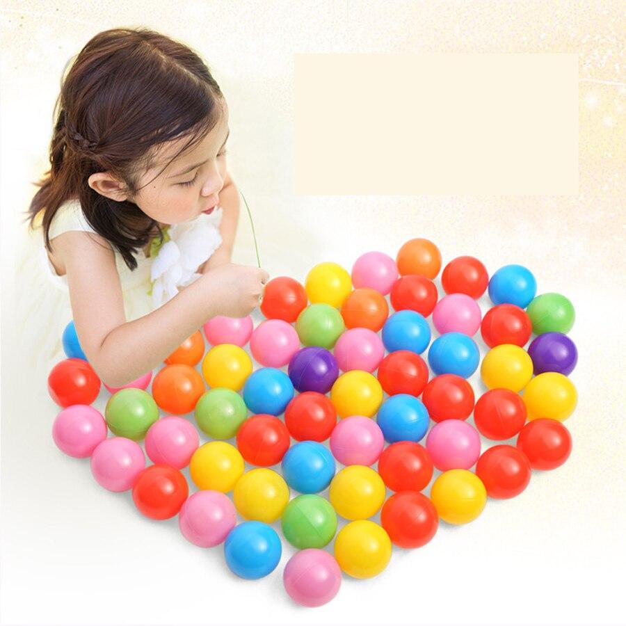 100 Pcs Ocean Ball Beach Balls Mixed Color Kids Ball Pit Balls Swimming Pool PE Environmental Protection Non-Toxic Parent child