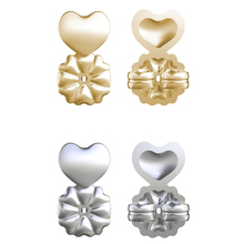 Hot Magic Earring Backs Support Earring Lifts Fits all Post Earrings Set Gold Color Silver Color