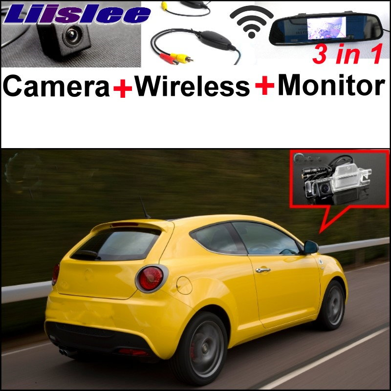 Liislee Wireless Receiver + 3in1 Special Camera + Mirror Monitor EASY Parking System For Alfa Romeo MiTo AR Furiosa 2007~Onwork 3 in1 special rear view camera wireless receiver mirror monitor back up parking system for citroen ds3 ds 3 2009 2015