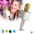 TOP!32 Mobile Phone KTV Mini Karaoke Player Microphone Handheld Q7/K068 Wireless Mic Gold/Rose/White Gold