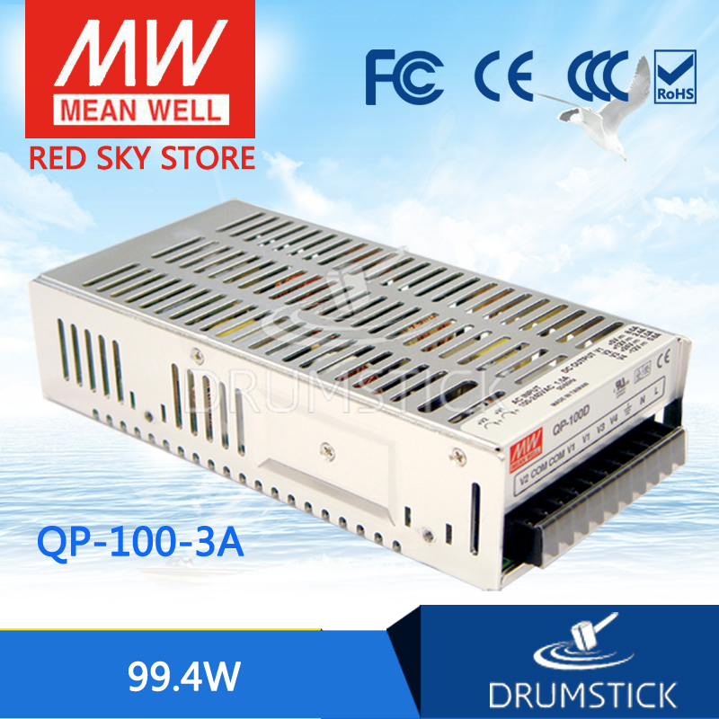 цена на hot-selling MEAN WELL original QP-100F meanwell QP-100 99.4W Quad Output with PFC Function Power Supply