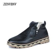 ZENVBNV Men Boots Men Winter Boots Botas Hombre Fur Zip Warm Casual Shoes For Men 2017 Fashion Microfiber Plush Snow Shoes