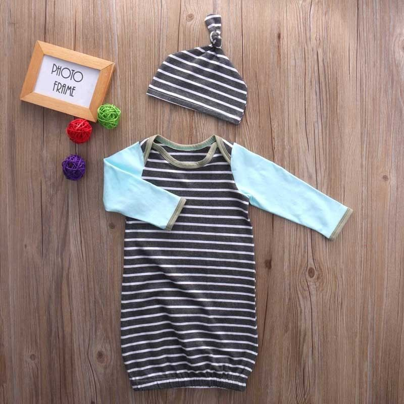 Newborn Infant Baby Girl Clothes Boy Cotton Romper Night Gown Sleepwear Clothes Outfit Chirldren Clothing Rompers Cute 2017 newborn baby boy girl clothes floral infant bebes romper bodysuit and bloomers bottom 2pcs outfit bebek giyim clothing