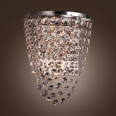 Stainless Steel Plate Modern Led Crystal Wall Light Lamp For Home Lighting ,Wall Sconce Free Shipping