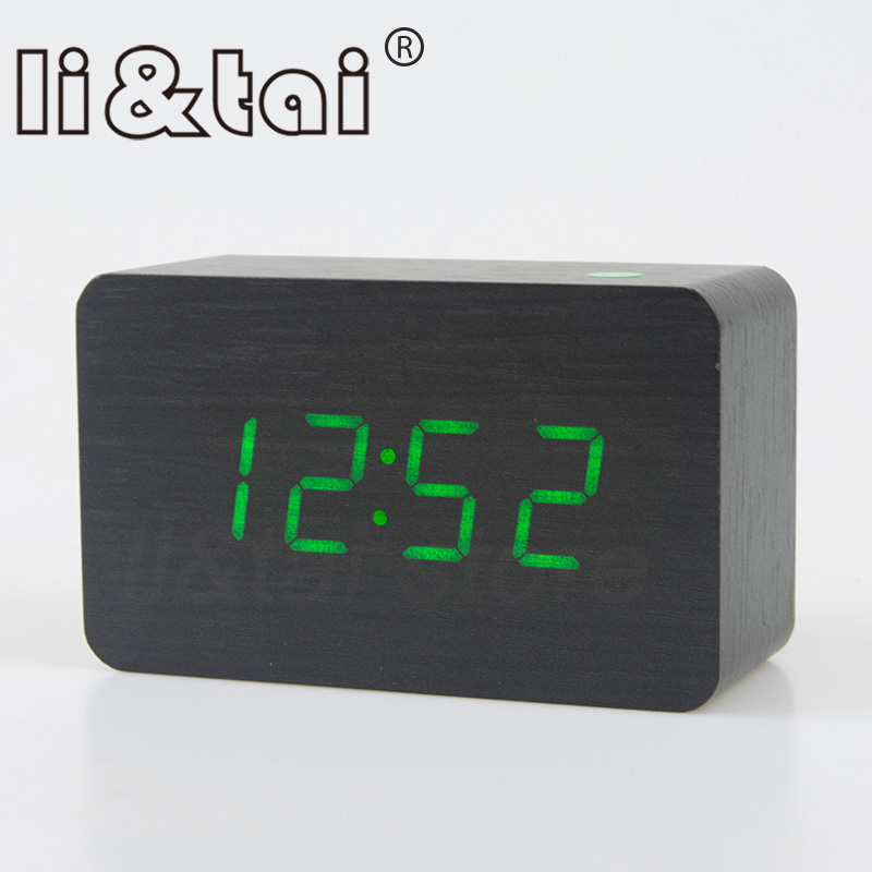 COMPACT WHITE LCD BATTERY POWER DIGITAL 5 LANGUAGE CALENDAR ALARM CLOCK SNOOZE Clocks
