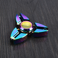 Aluminum Alloy Metal Fidget Spinner Tri Spinner Rainbow Colorful EDC Gyro Toys Hand Spinner Torqbar Brass