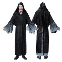 1PCS Fashionable Wizards Clothes Black Cloak Ghosts Festival Clothing Horror Scary Style Halloween Carnival Cosplay Men Costumes