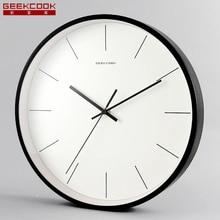 2017 New arrive modern fashion 12 inch large metal wall clocks silent non ticking quartz watch
