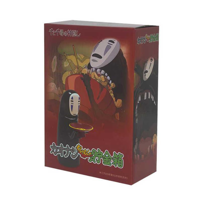 אין פנים פיגי בנק חשמלי יפני חסר פנים פעולה איור אוסף דגם בובת מתנה מיאזאקי הייאו ילדים צעצוע המסע מופלא