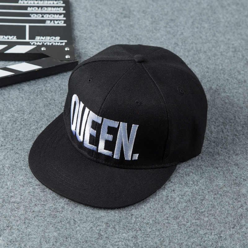 LKO Лидер продаж, 1 шт., вышитая королевой и королевой Мужская и Женская бейсбольная кепка s, Черная кепка в стиле хип-хоп, Снэпбэк, кепка, Мужская кепка